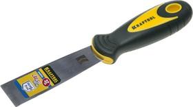 10035-030, Шпательная лопатка KRAFTOOL с 2-компонент ручк, профилиров нержав полотно, 32мм