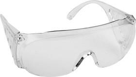 Фото 1/2 11050, Очки защитные открытого типа, прозрачные, с боковой вентиляцией, DEXX.