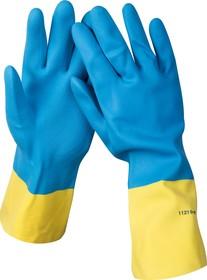 11210-L, Перчатки STAYER латексные с неопреновым покрытием, экстрастойкие, с х/б напылением, размер L