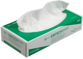 7557, Box of 100 White Kimtech Science Paper Wipes for Clean Room Use