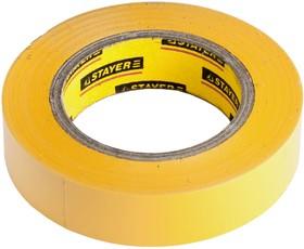 """12292-Y-15-10, Изолента STAYER """"PROFI"""" желтая ПВХ, на карточке, 15 мм х 10 м х 0,18мм"""