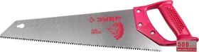"""15071-40, Ножовка ЗУБР """"ЭКСПЕРТ"""" по дереву, прямой закаленный зуб, пластмассовая ручка, шаг зуба 3,5мм, 400мм"""