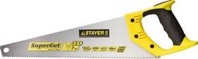 1512-45, Ножовка универсальная (пила) STAYER SuperCu 450 мм, 7 TPI, 3D зуб, рез вдоль и поперек волокон, для
