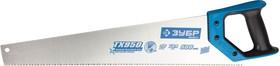 15233-50, Ножовка по дереву (пила) ЗУБР ЛЕВША-9 500 мм, 9 TPI, мелкий 3D зуб, точный рез вдоль и поперек волок
