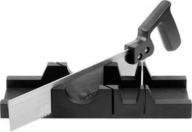 1538-30, Набор DEXX: Стусло пластмассовое + пила для стусла, для заготовок до 65х35мм, ножовка 300мм