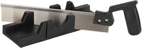 """1539-30, Набор STAYER """"MASTER"""": cтусло пластмассовое + пила для стусла, ножовка 300мм, заточенный зуб 11TPI,"""