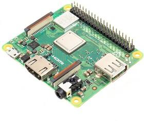 Фото 1/2 Raspberry Pi 3 Model A+, Одноплатный компьютер на базе процессора Broadcom BCM2837B0, Wi-Fi, Bluetooth