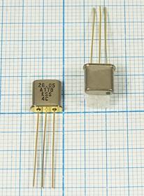 Фильтр кварцевый 26.05МГц 2-го порядка, с полосой 17кГц, ф 26050 \пол\ 15/3\UM1-3\3P\ MXF26,05-15B\2пор\