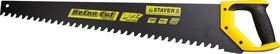 Фото 1/2 2-15097, Ножовка по пенобетону (пила) STAYER COBRA Beton 700 мм, шаг 20 мм, 17 твердосплавных резцов