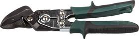 Фото 1/3 2325-R, KRAFTOOL Ножницы по металлу BULLDOG проходные с двойной рычажной передачей, правые, губка с выносом,