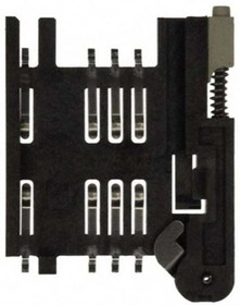 91228-3007, SIM CARD READER,2.54MM, 6CIRCUITS,SMT