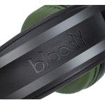 Фото 4/9 Наушники с микрофоном A4 Bloody J450 черный/зеленый 2.2м мониторные оголовье (J450)