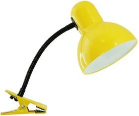 Настольный светильник МТ2077С прищепка 40Вт 220В ЛН Е27, желтый 954