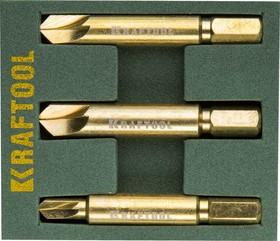 Фото 1/3 26770-H3, Набор экстракторов KRAFTOOL для выкручивания крепежа с износом граней шлица до 95%.PH1/PZ1,PH2/PZ2,P
