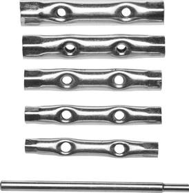 27192-H6, Набор DEXX: Ключи трубчатые, 8-17мм, 6 предметов