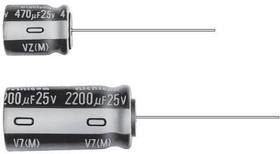 Фото 1/2 UVZ2D100MPD, Cap Aluminum Lytic 10uF 200V 20% (10 X 12.5mm) Radial 5mm 65mA 1000h 105°C Bulk