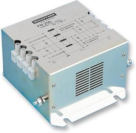 FN256-25-47, Фильтр ЛЭП, монтаж на каркас, 25 А, 480 В AC, 3 Фазы + Нейтральная Линия, Винт, 1.57 мГн, 4.4 мкФ