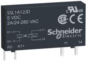 SSL1A12BD, 1 PH SS RELAY 280VAC 2A 2