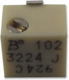 Фото 1/3 3224G-1-503E, Подстроечный потенциометр, 50 кОм, 12 виток(-ков), Устройство Поверхностного Монтажа