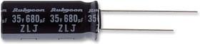 100ZLJ56MT810X12.5, Электролитический конденсатор, миниатюрный, 56 мкФ, 100 В, Серия ZLJ, ± 20%, Радиальные Выводы