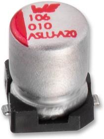 865090440002, SMD электролитический конденсатор, Radial Can - SMD, 4.7 мкФ, 25 В, Серия WCAP-ASLU
