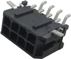 Фото 1/2 43045-0810, Разъем типа провод-плата, 3 мм, 8 контакт(-ов), Штыревой Разъем, Micro-Fit 3.0 43045 Series
