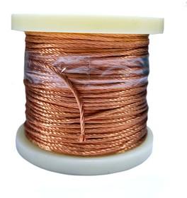 Провод обмоточный литцендрат Litz wire 1000 х 0,05 мм 1 кг (53 м)