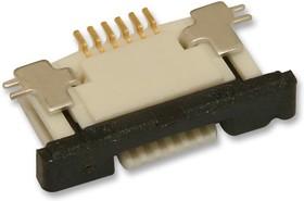 0527450697, Conn FPC Connector SKT 6 POS 0.5mm Solder RA SMD Easy-On™ T/R
