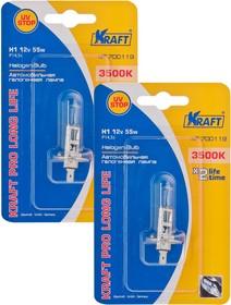 Комплект автоламп Н1 12v55w (P14,5s) Kraft Pro Long Life (2 шт)