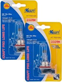 Комплект автоламп Н8 12v35w (PGJ19-1) Kraft Pro Long Life (2 шт)
