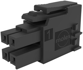 1722583110, ULTRA-FIT TANGLESS RECEPTACLE HOUSING, 3.50MM PITCH, DUAL ROW, 10 CIRCUITS, BLACK, GLOW-WIRE CAPABLE