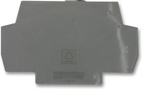Фото 1/3 859-525, Торцевая / средняя пластина, для использования с клеммными колодками оптопары, серого цвета