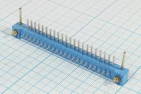 Прямоугольный соединитель штекер, шаг P3,0мм, 22С, 22 контакта, пластиковый, угловой, однорядный, МРН22-1