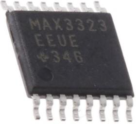 MAX3323EEUE+, Приемопередатчик интерфейса RS-232 для моноканальных линий связи