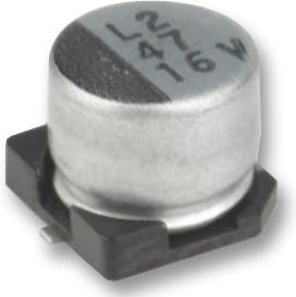 MCEEL16V106M4X5.2, SMD электролитический конденсатор, Radial Can - SMD, 10 мкФ, 16 В, Серия MCEEL