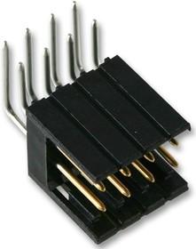Фото 1/3 826470-3, Разъем типа провод-плата, угловой, 2.54 мм, 6 контакт(-ов), Штыревой Разъем, Серия AMPMODU MOD II