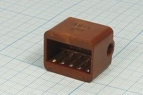 Фото 1/2 Прямоугольная соединительная розетка, шаг P4.5мм, 10гнёзд, РШАГ10; гн ПрС\P4,5\10HC\\\РШАГ10