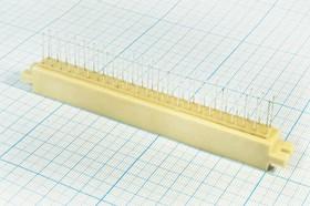 Фото 1/2 Прямоугольный соединитель штекер, шаг P2,5мм, 135P, [3x45,A(23)+C (23)=2x23=46P], 46 контактов, прямая,СНП34С-46В-В