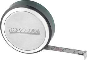 34147-02, Рулетка KRAFTOOL, SuperKompakt, корпус из нержавеющей стали, 2мх8мм