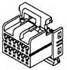 Фото 1/2 174045-2, Разъем типа провод-плата, Серия MULTI-LOCK 40, 12 контакт(-ов), Штекер, 2.5 мм, Обжим, 2 ряд(-ов)