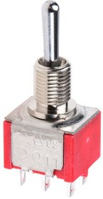 1MD6T1B5M1QES-5, Toggle switch,DP,on-on-on