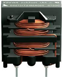 B82731T2102A20, Common Mode Chokes Dual 10000uH 10kHz 1A 0.63Ohm DCR Thru-Hole Box