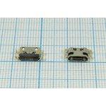 Фото 2/2 Разъем micro USB-B, Гнездо реверсивное (reverse), 5 выводов, № 14385 гн microUSB REV\B\5C4HP\плат\\\ microUSBB5SAD11REV