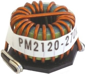 Фото 1/2 PM2120-101K-RC, Inductor Power Toroid 100uH 10% 1KHz Iron 6.1A 0.035Ohm DCR Box