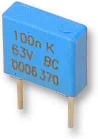 BFC237021154, DC Пленочный Конденсатор, 0.15 мкФ, 100 В, Metallized PET, ± 10%, Серия MKT370