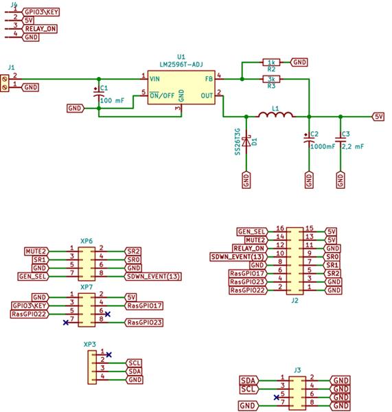 Схема БП и Com