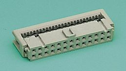 Фото 1/3 09 18 510 6803, Разъем типа провод-плата, 2.54 мм, 10 контакт(-ов), Гнездо, Серия SEK 18, IDC / IDT, 2 ряд(-ов)