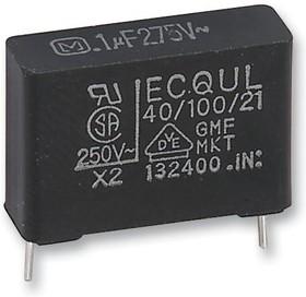 Фото 1/2 ECQU2A224ML, Пленочный помехоподавляющий конденсатор, 0.22 мкФ, 275 В AC, Серия ECQUL, ± 20%, Радиальные Выводы