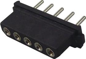 M80-8400542, Разъем типа провод-плата, одиночный встраиваемый в линию, 2 мм, 5 контакт(-ов), Гнездо