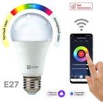 Лампа светодиодная Умная HomeConnect 8Вт WIFI RGBW E27 EKF slwf-e27-rgbw